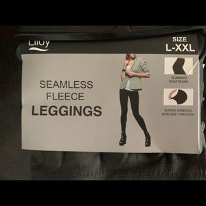 Pants - Lildy dark grey seamless fleece leggings